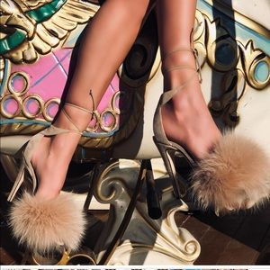 Limited edition Melly fur sandal in nude